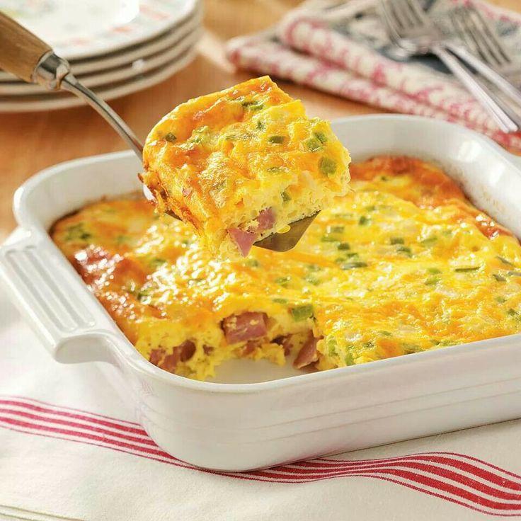 Oven baked Denver omelet | Breakfast Board | Pinterest