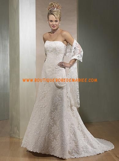 Robe de mariée dentelle avec traîne  Robe de mariée dentelle ...
