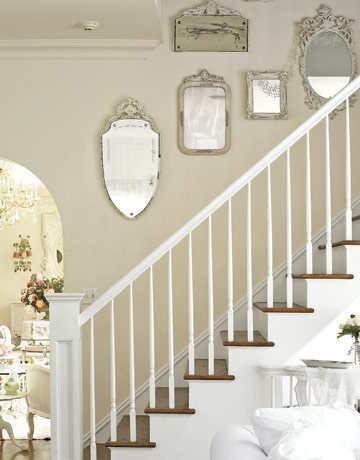 House interior - Vintage Mirrored Stairway