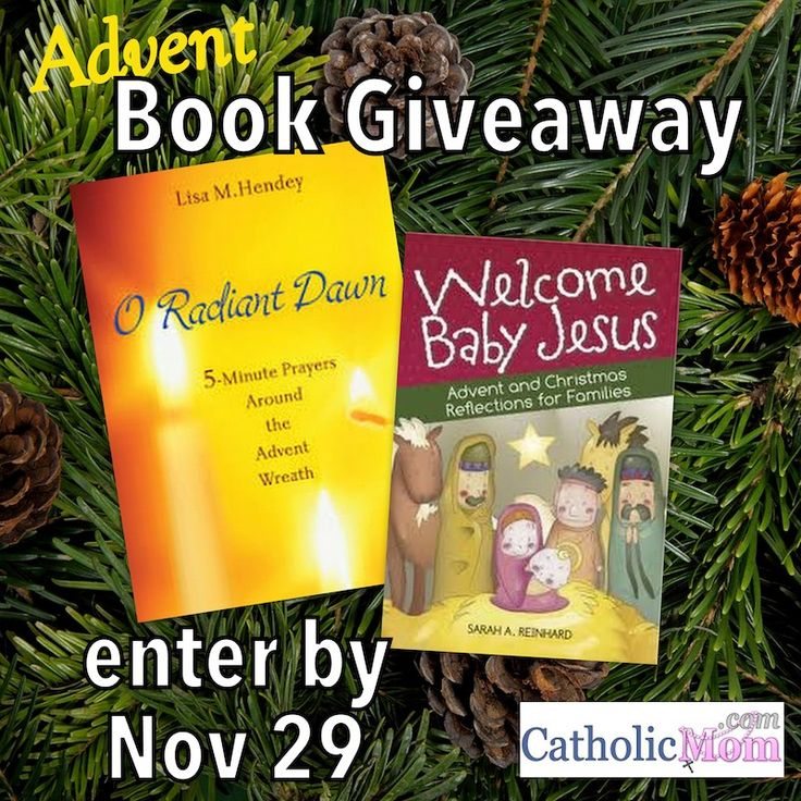 Advent Book Giveaway at Catholicmom.com - Enter by November 29th and you could win both books!