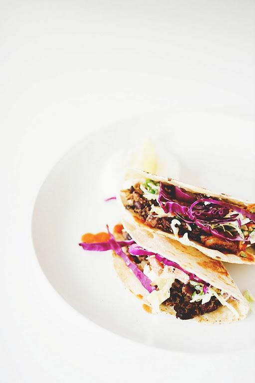 Crispy Black Bean Tacos with Feta & Cabbage Slaw