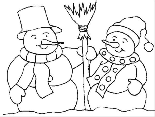 Snowman coloring pages my board pinterest