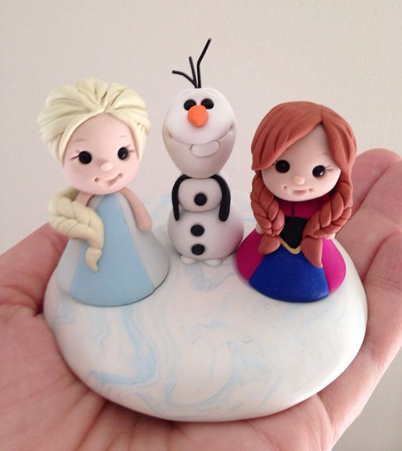 Frozen keepsake cake topper by theaircastle on Etsy, $150.00