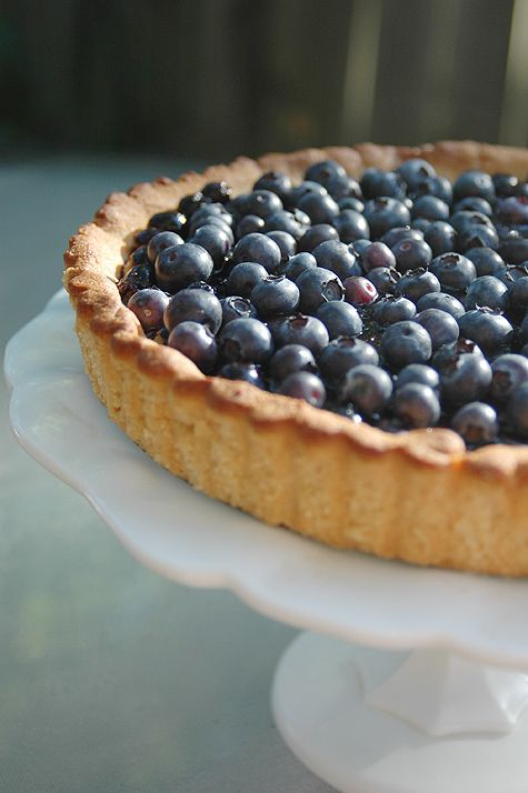 Grain-free Blueberry Tart (refined-sweetener-free, optional dairy-free ...