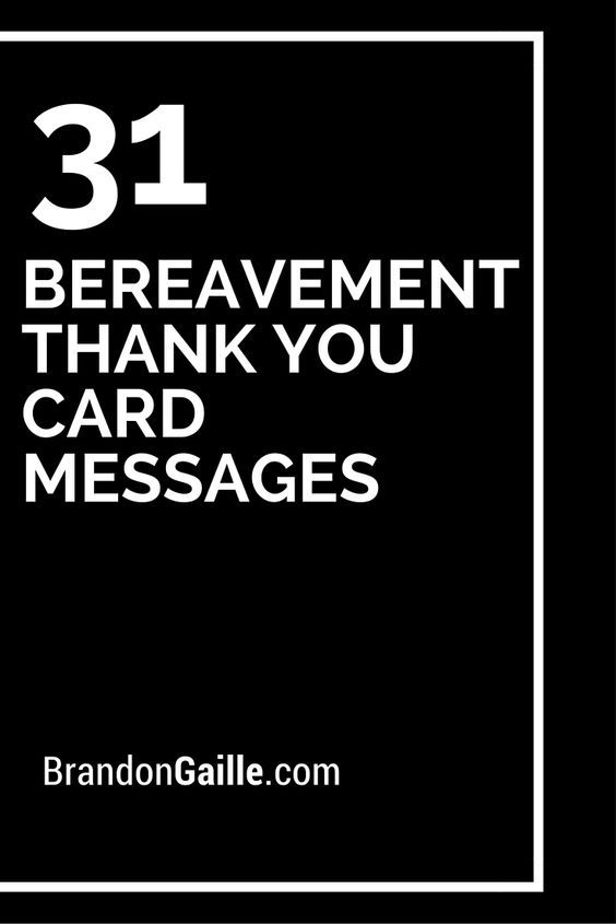 31 Bereavement Thank You Card Messages