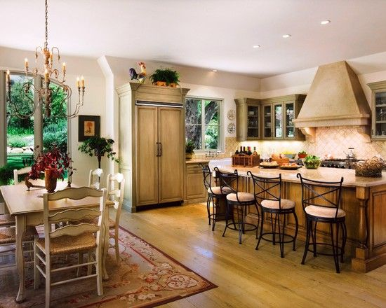 French Country Kitchen Houzz Dream Home Pinterest