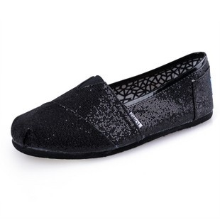 Toms Glitter Shoes Women Black $18.99 $22 - cheap toms ,repin & share