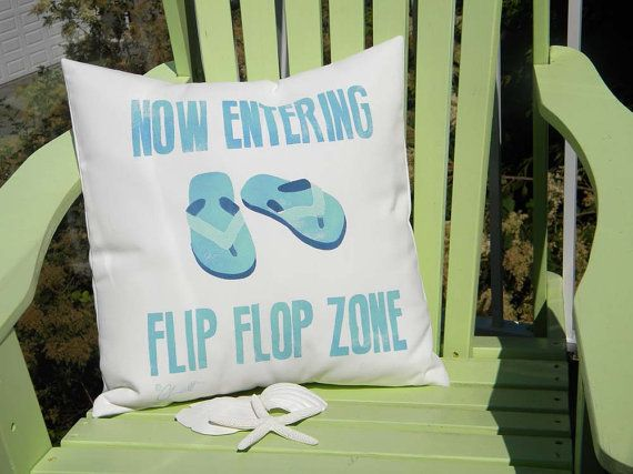 Inspiring painted coastal life outdoor pillows
