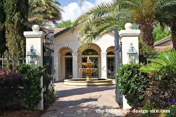 Courtyard entrance and fountain landscape design ideas for Entry courtyard design ideas