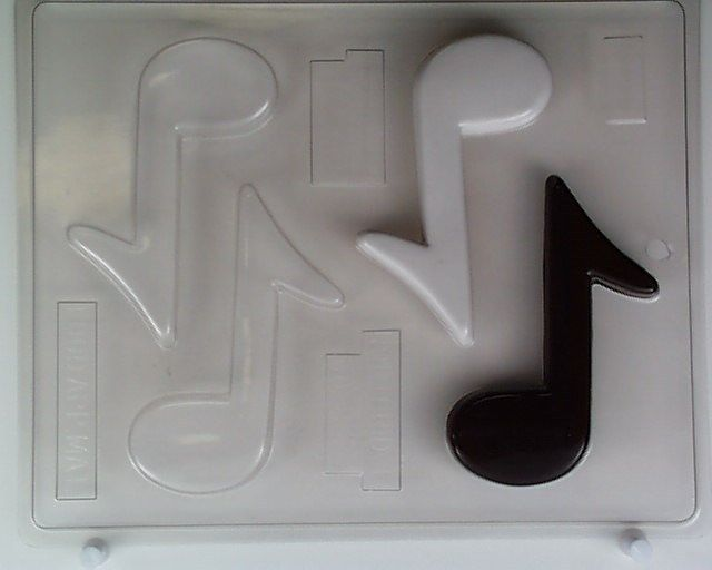 music notes candy molds
