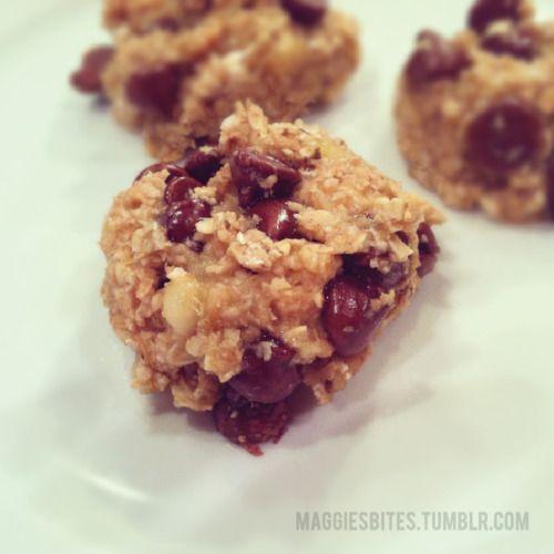 Maggie's Bites - ChocolateChip Oatie Chunkers, 102 calories! No butter, No sugar, No flour.