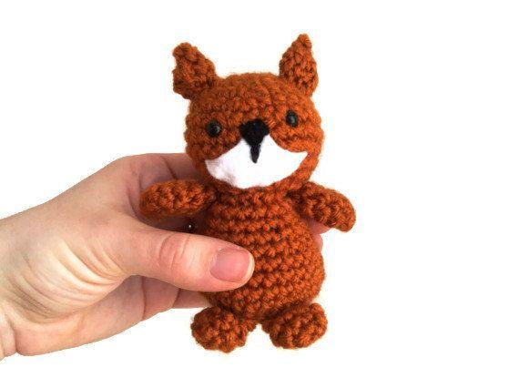 Little Fox Amigurumi : Little Fox Stuffed Animal Plush - Cute Crochet Amigurumi
