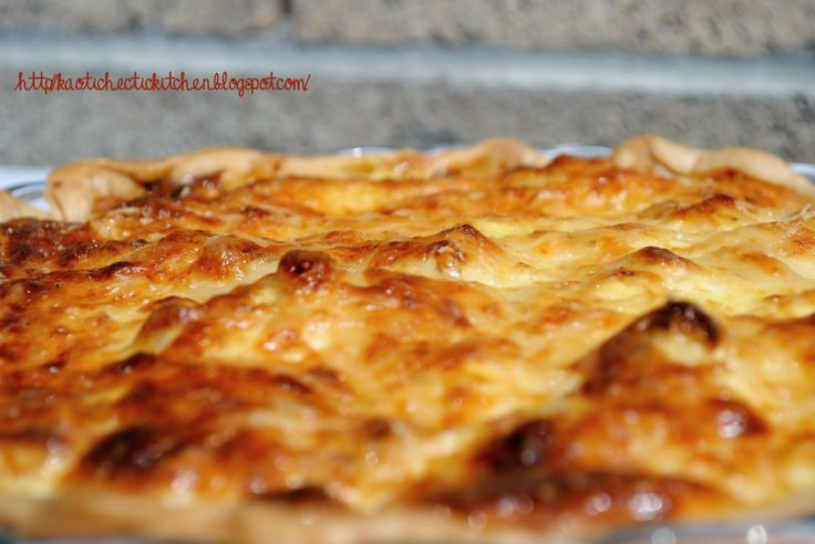 my kaotic kitchen: roasted cauliflower and caramelized onion tart