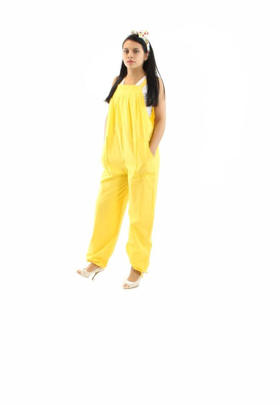 Creative Women Harem Jumpsuit Yellow Green Jumpsuit