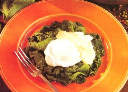 Oh yes! Poached eggs With Spinach Recipe & a lighter hollandaise sauce ...
