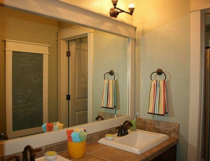 large bathroom mirror frames design pinterest