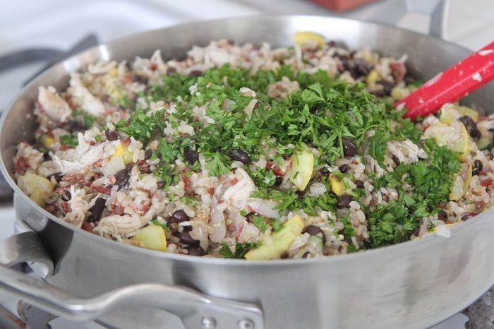 Chicken and Black Bean Smoky Rice Skillet | Recipe