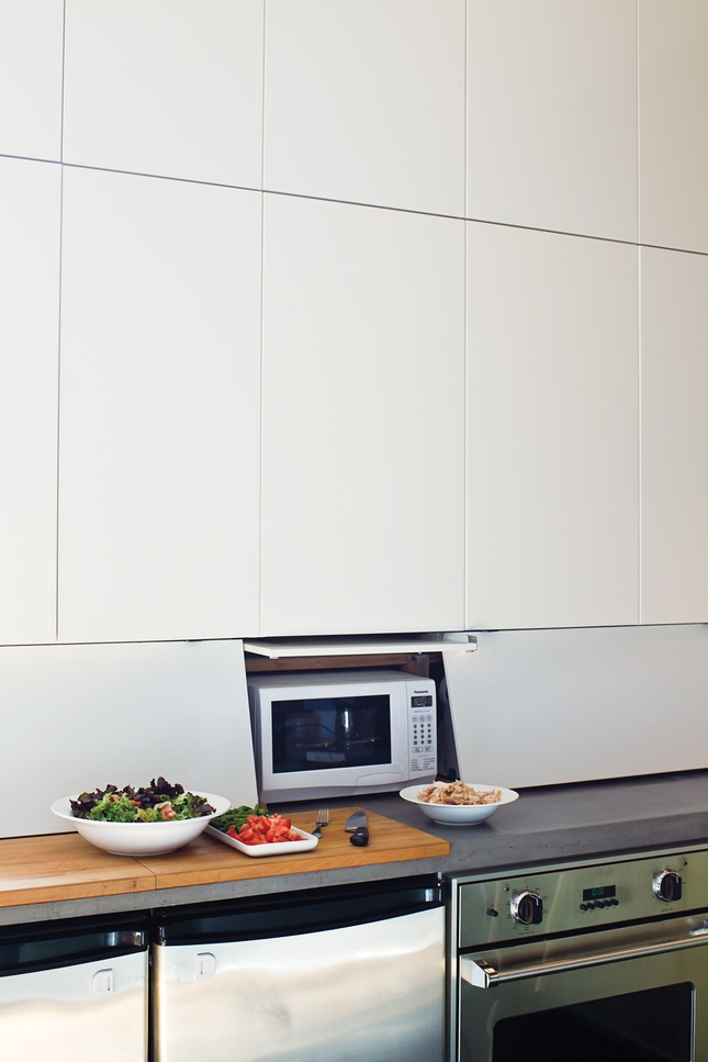 Appliance garage from ikea cabinets kitchen pinterest for Appliance garage kitchen cabinets