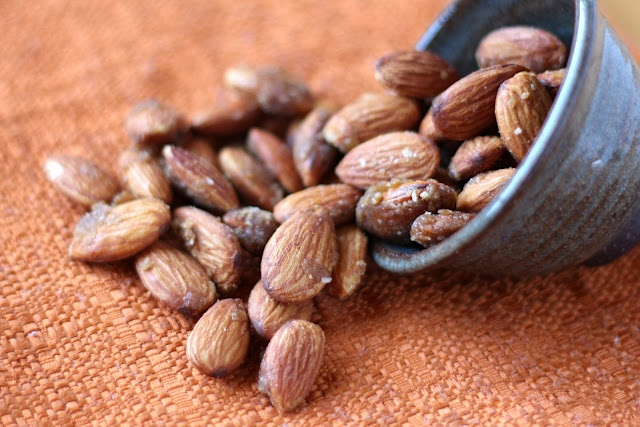 Ginger and Honey Roasted Almonds