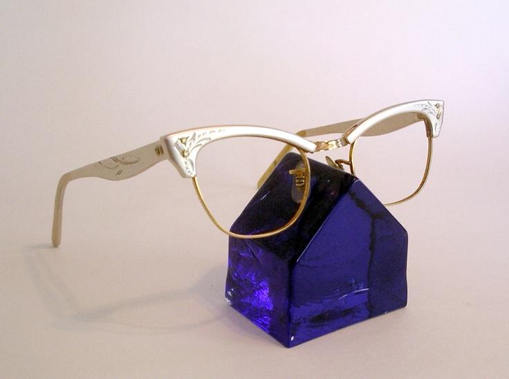 Vintage Silver Eyeglass Frames : Vintage Eyeglass Frames, Soft Silver Brush