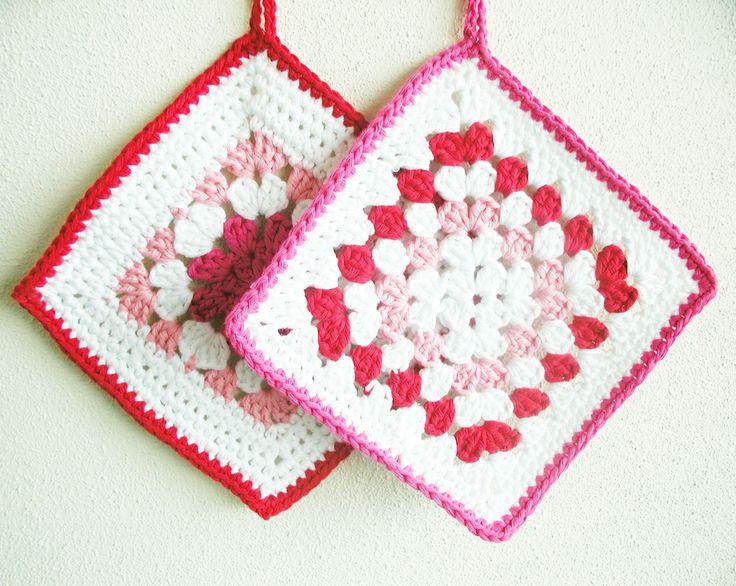 Crochet potholders (free pattern). My Blog Posts Pinterest