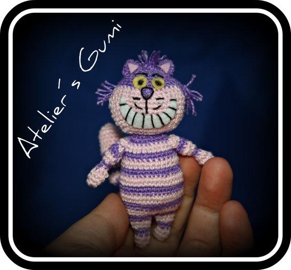 Cheshire Cat Amigurumi : Cute Tiny Amigurumi Cheshire Cat Alice in Wonderland ...