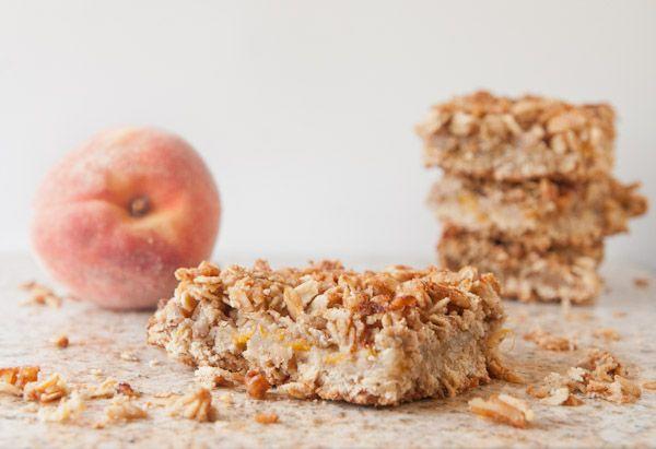 Healthy Peach Oatmeal Crumb Bars | Recipes | Pinterest