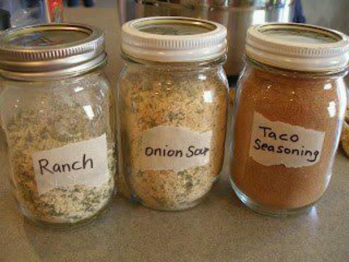 Homemade spice mixes | Canning | Pinterest