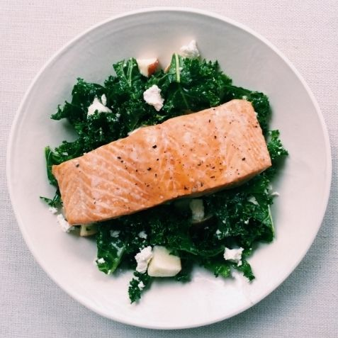 More like this: kale , salmon and feta .