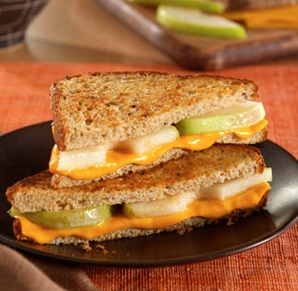Grilled Cheese & Pear. This would be so good with brie or gruyere!