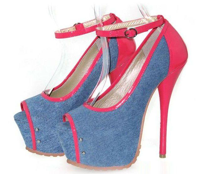 pin by gazelle on denim heels