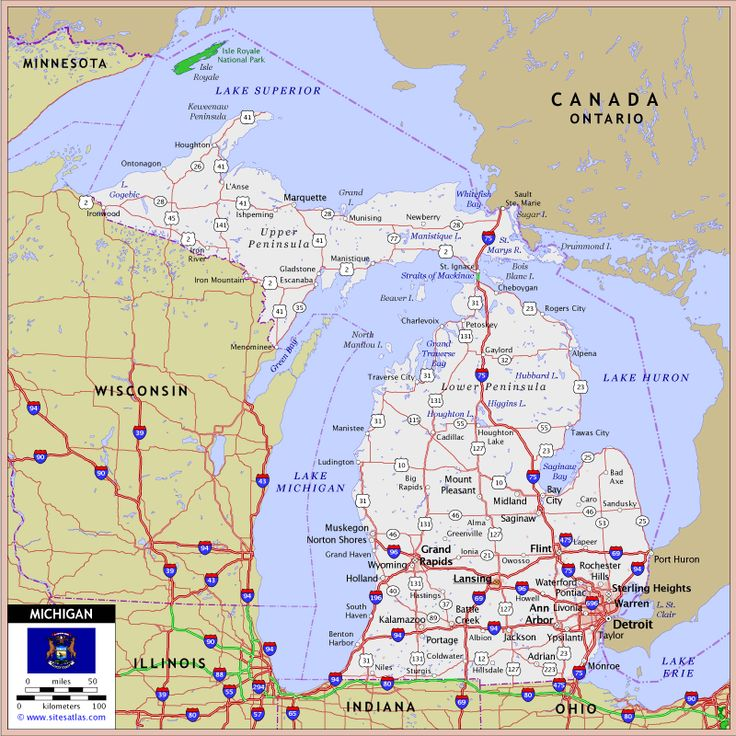 Michigan Highway And Road Map  Marquette Mich IN THA UP
