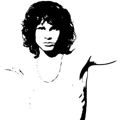 Jim Morrison The Doors Wall Sticker Decal - Silhouette Decoration - 24    The Doors Stencil
