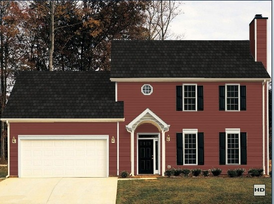 Certainteed autumn red vinyl siding exterior pinterest for Certainteed siding