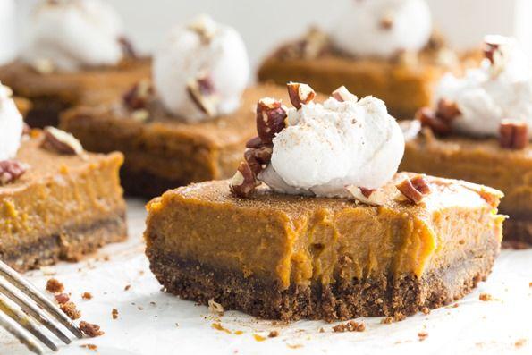 Vegan Pumpkin Pie Squares with Gluten-Free Graham Cracker Crust