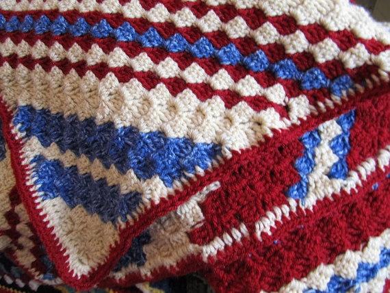 Crochet Pattern Diagonal Afghan : Blanket, Crochet Blanket afghan, diagonal stripes, blanket ...