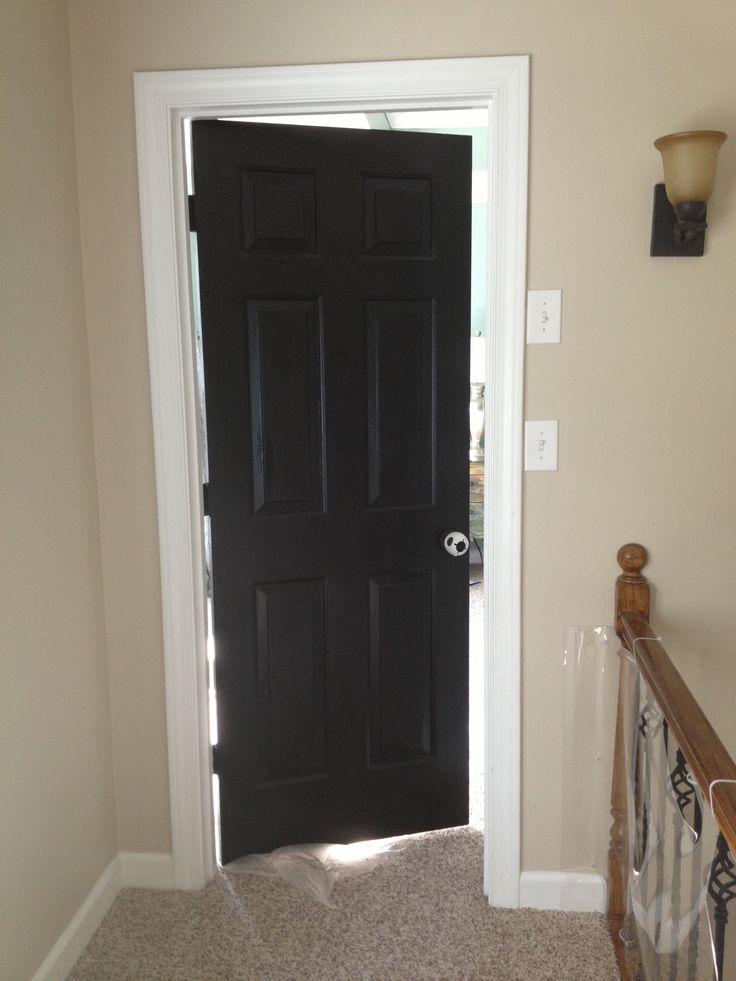 My bedroom door painted black Bedroom Doors