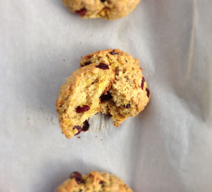 Not-So-Irish Soda Bread Buns, with Orange Zest and Cranberries