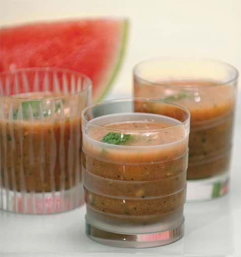 chilled watermelon soup | SOUP | Pinterest