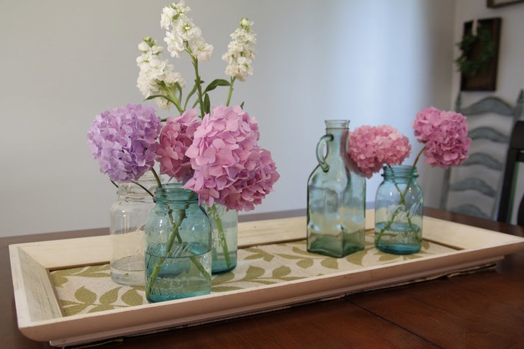 Tray centerpiece for dining room table casa pinterest
