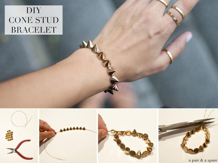 DIY Spike bracelet.