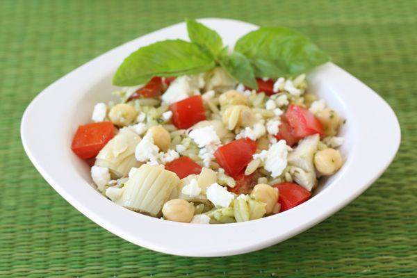 Orzo Salad With Artichokes, Tomatoes, Chickpeas, Feta ...