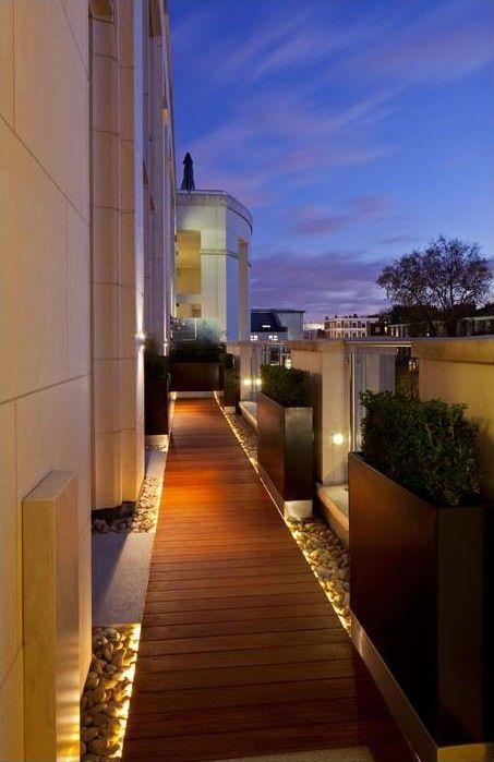 Lighting On Roof Terrace Garden Design Lighting Pinterest