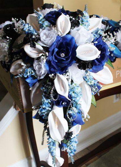 Blue orchid centerpieces orchids reception ideas