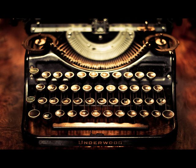 Underwood, love vintage typewriters...you can still feel the sweat, anguish and success of those that toiled there.