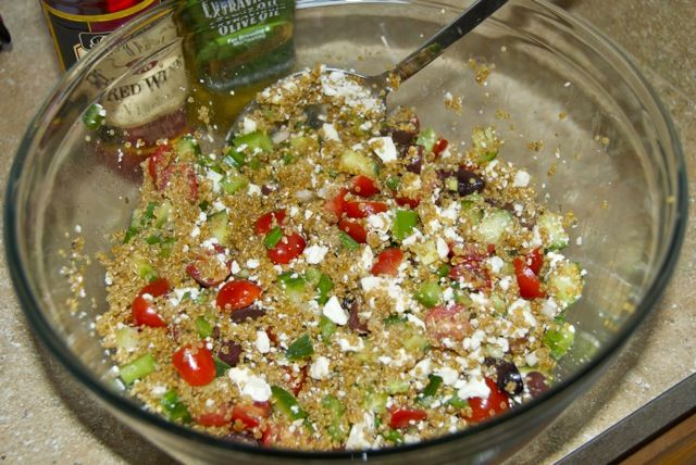 More like this: quinoa , greeks and salad .