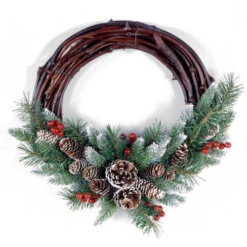 Frosted Berry Grapevine Christmas Wreath by NATIONAL TREE COMPANY. $27 ...