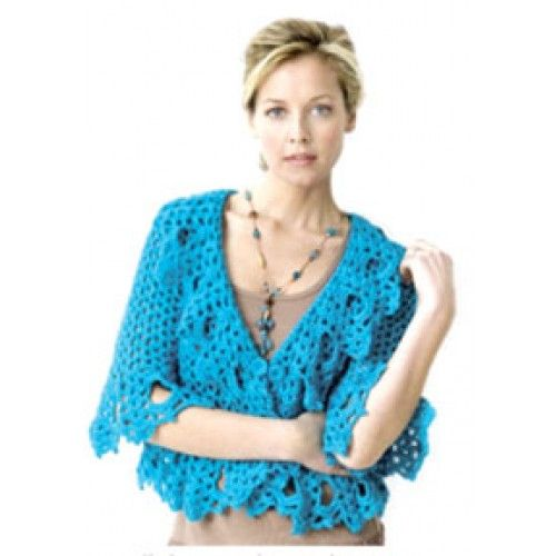 Free Crochet Patterns For Women s Clothing : Free Lacy Jacket Crochet Pattern womens clothing free ...