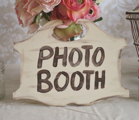 Wedding Photo Booth Decoration Wedding Photo Booth Sign Vintage Wedding Decor By Braggingbags