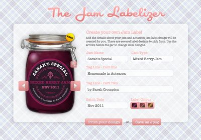 Jam Label Generator via How About Orange